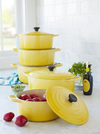 Le Cruset - I just love the sunshine yellow. #LGLimitlessDesign  #Contest