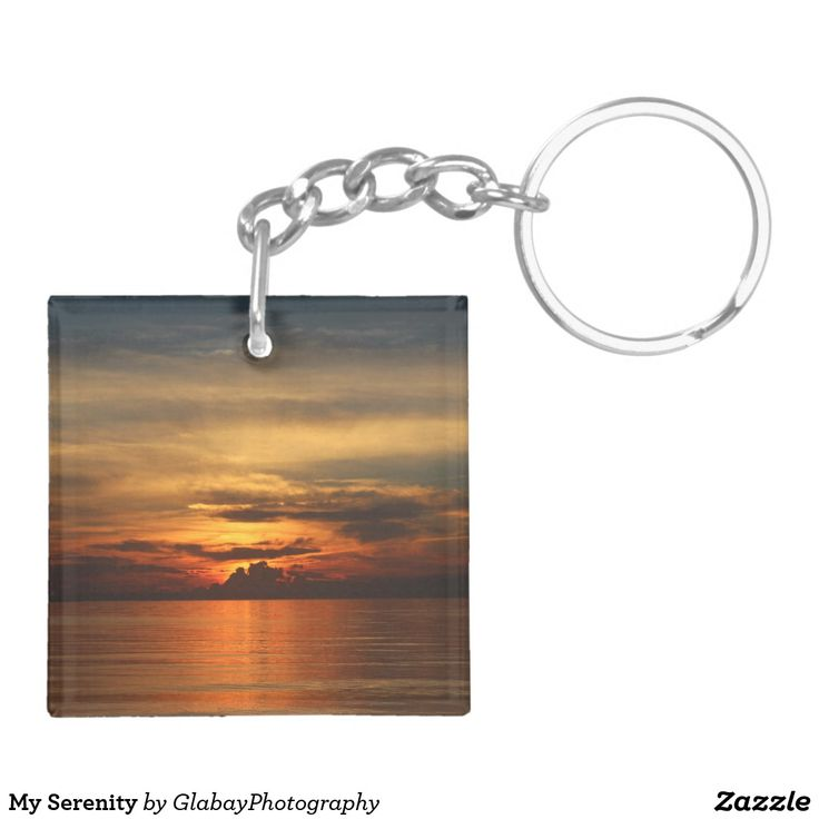My Serenity Double-Sided Square Acrylic Keychain