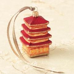 pagoda asian holiday decorations by Gump's San Francisco