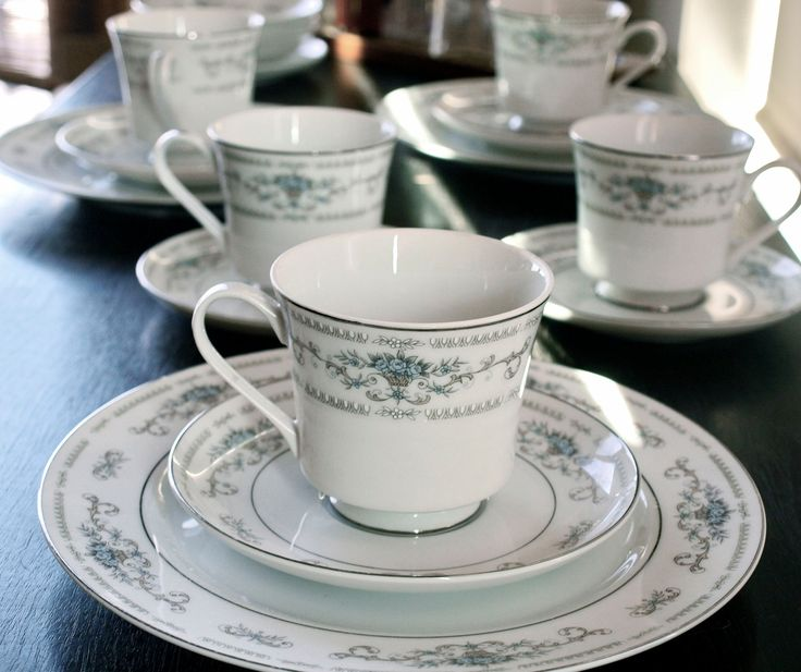 Diane Porcelain by Wade FIne China of Japan / 18 Piece Tea and Dessert Service Set & 93 best China Patterns images on Pinterest | Tea cup Tea sets and ...