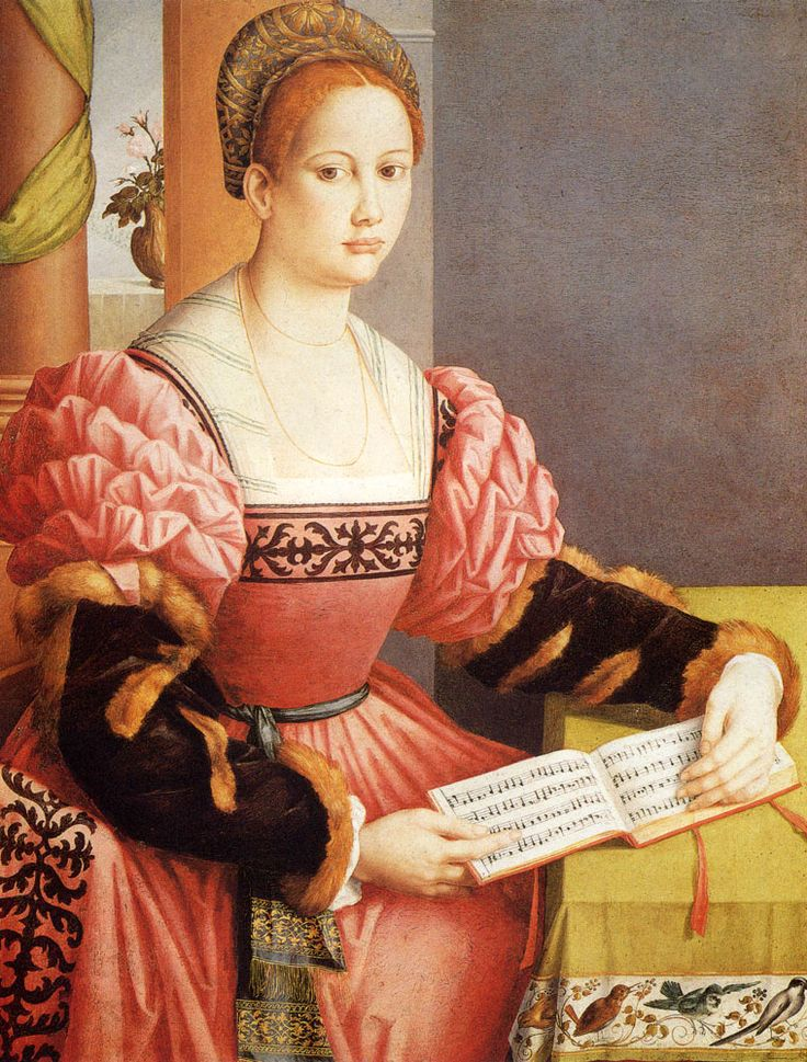 Portrait of a Lady (1530). Francesco Ubertini Bachiacca II (1494-1557). Oil on panel. A Florentine painter and draughtsman, Bachiacca is chiefly recognized as an artist who helped evolve the style of Mannerism. He is said to have studied with Umbrian painter Perugino and also collaborated with Franciabigio and Pontormo. His later work shows the influence of Michelangelo and from mannerists such as Il Bronzino. He often retained the balance and order of the early Renaissance style.
