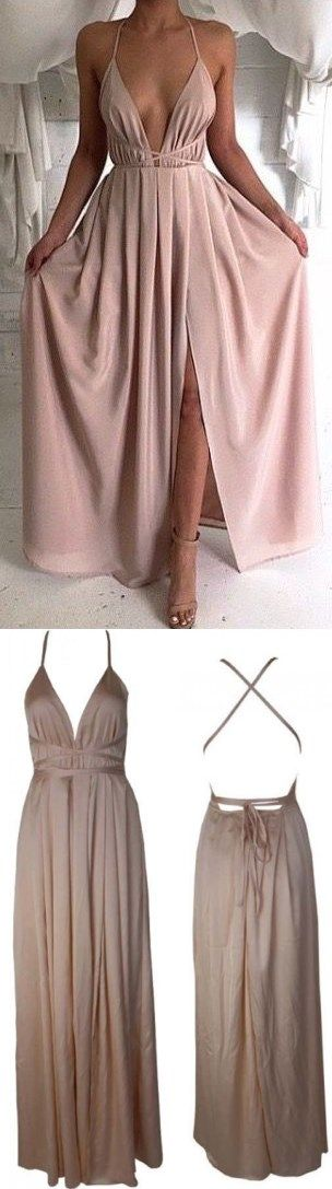 2017 Prom Dresses, Long Prom Dresses,Blush Pink Evening Gowns,Sexy Formal Dresses,Chiffon Prom Dresses,2017 Fashion Evening Gown,Sexy Prom Dress,Party Dress,Bridesmaid Gowns