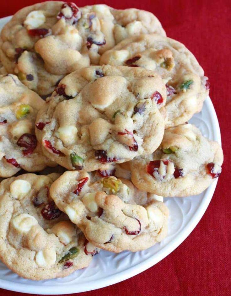 White Chocolate Cranberry Pistachio Cookies 3 sm