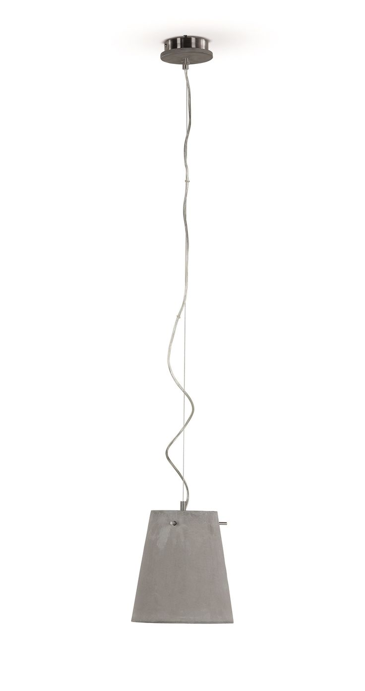 Ira Pendant Lamp, in Concrete. An urban and elegant lighting solution. £59. MADE.COM