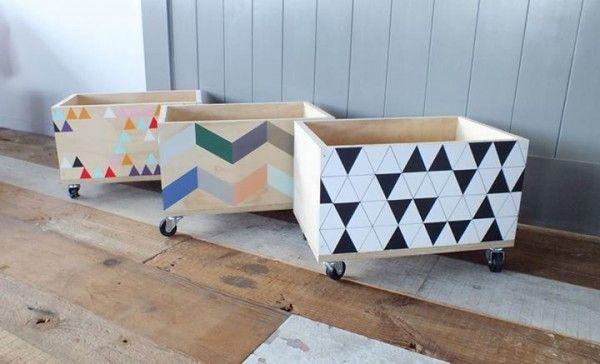Wheelie box ... for basement or kids closets