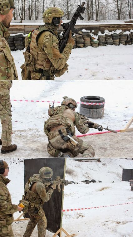 Russian FSB Spetsgruppa 'A' (Alpha Group) during close-quarters training.