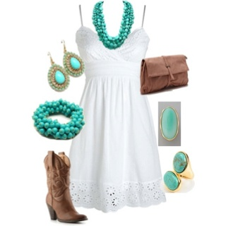 I love the turquoise!
