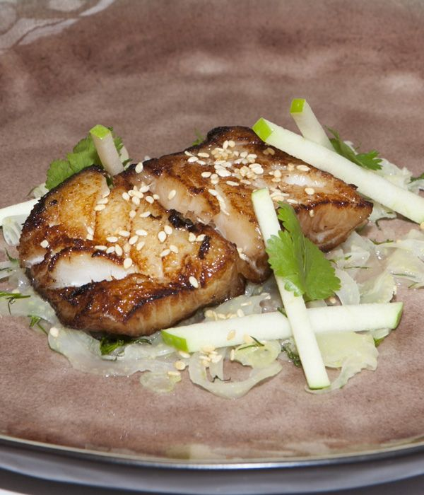 A super-quick and simple dish, this soy-marinated cod recipe from Adam Stokes makes a scintillating starter.