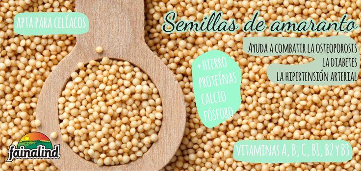 Los beneficios y propiedades de las semillas de amaranto **Fainalind**