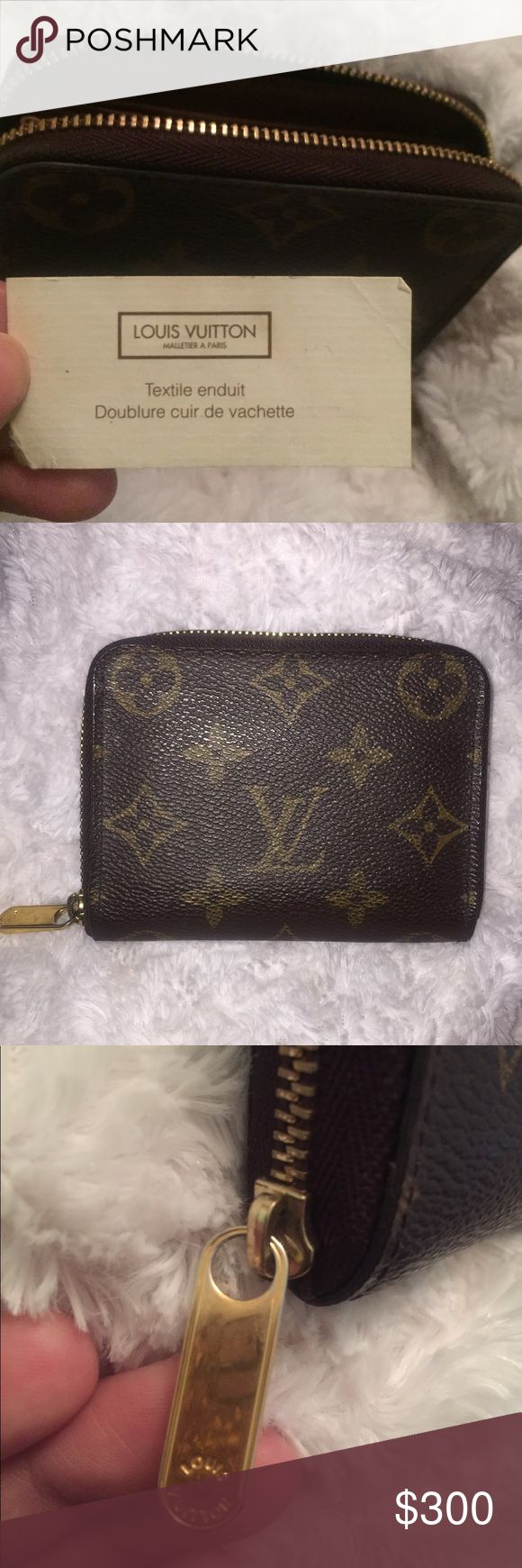 Zippy Louis Vuitton Coin Purse USED i'm fairly new to this app but i was gifted this coin purse from my ex fiancé... i used it as we were together and never thought i'd be selling so unfortunately i don't have the box it came in. It's in good condition since i valued it at the time but i no longer want to keep it so i thought why not sell. It's authentic but feel free to offer a lower price, just want to move on. Louis Vuitton Bags Wallets