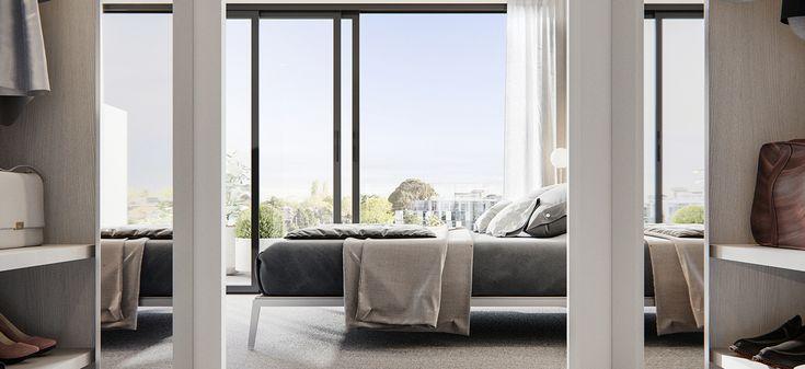 67 parkside caulfield north apartment bedroom walk in wardrobe