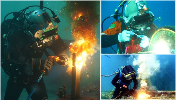 Underwater Welding in Wet - Under water welding has made it possible to repair underwater heavy structures that cannot be transported to l...