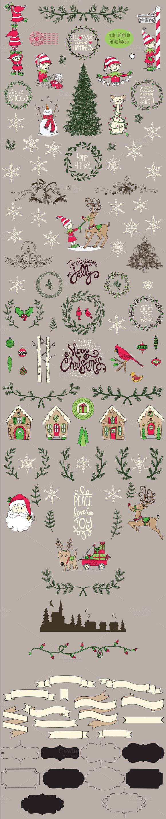 Ultimate Christmas Kit, Vector by Rachel White Art on Creative Market