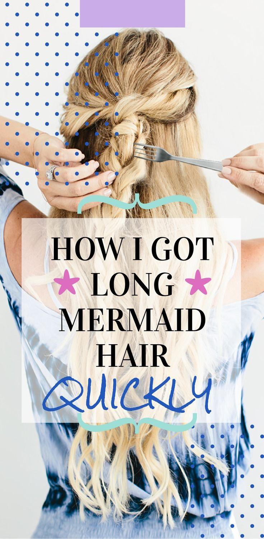 How I get mermaid hair (hair routine) <3