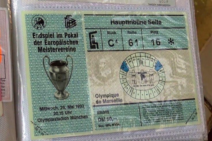 ticket om-milan finale 26/05/1993