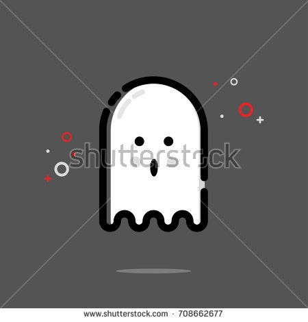 Cute ghost icon design. Vector illustration for icon or logo. MBE style eps.10