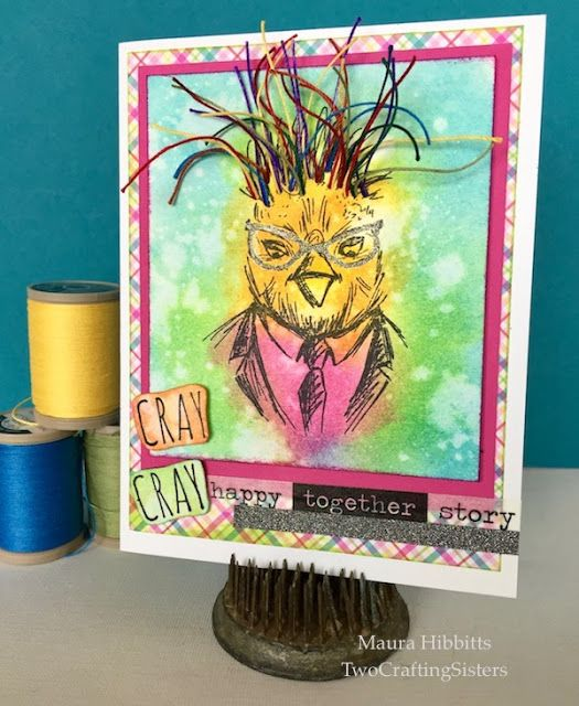 Two Crafting Sisters: Cray Cray Rainbow Hipster!