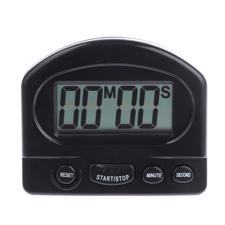 White Black Digital Timer Alarm Clock Countdown Gadgets with Large LCD Display Digital Timer for Kitchen Cooking Tool