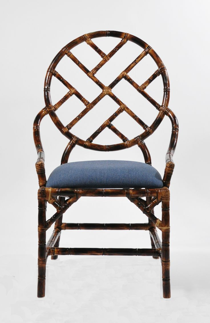 Bamboo Accent Chair with a tortoise shell finish. Love this for a dining or occasional chair!