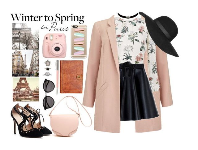 """Winter to Spring in Paris"" by elviretta on Polyvore featuring moda, Miss Selfridge, MSGM, Patricia Nash, Faber-Castell, Yves Saint Laurent, Charlotte Russe, Topshop, Forever 21 e Roÿ Roger's"