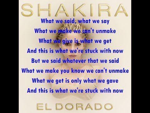 Shakira feat. MAGIC!  - What We Said [Lyrics Video Version]