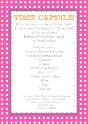 25+ best ideas about Time capsule birthday on Pinterest | Baby ...
