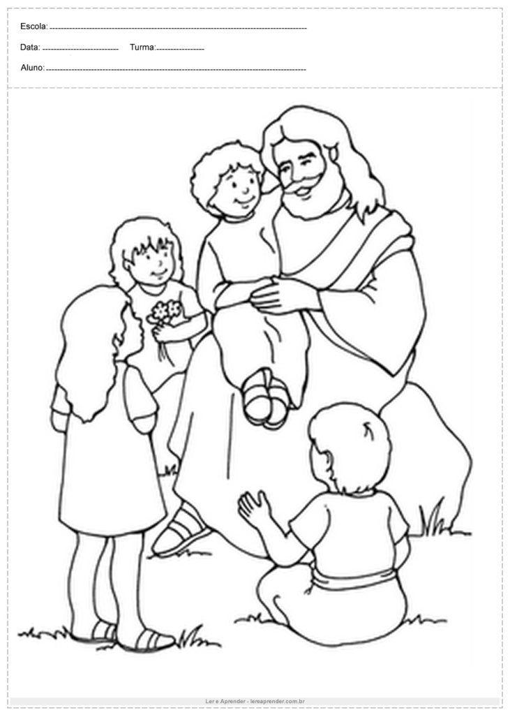 Atividade De Ensino Religioso Jesus Para Colorir Com Imagens