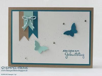 Stanze Mini Schmetterling, Perfekte Pärchen, Geburtstagskarte Stampin' Up
