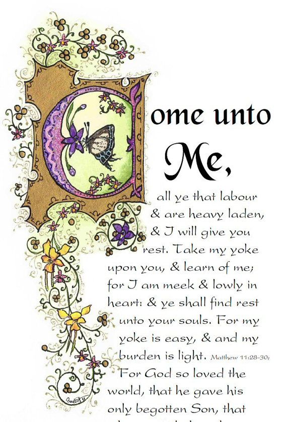Come Unto Me  Book Mark by angelworx on Etsy