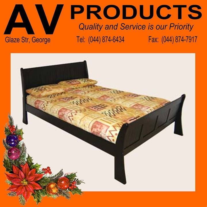 Spoil your loved one this festive season with this gorgeous panel sleigh bed from AV Produkte / AV Products. #solidwood #furniture
