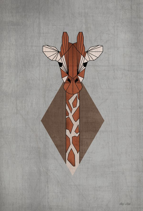 Geometric Animals II by Paula Maia, via Behance