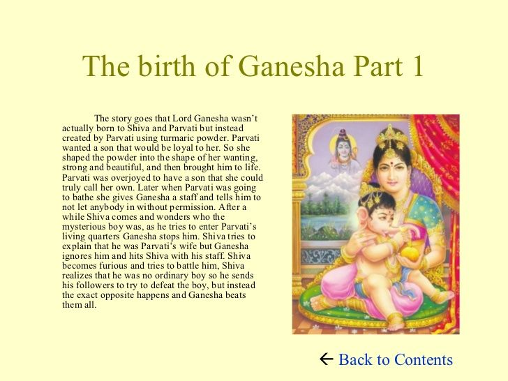 Image result for story of ganesh images