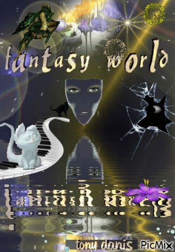 FANTASY WORLD ! it's my world original backgrounds, painting,digital art by…