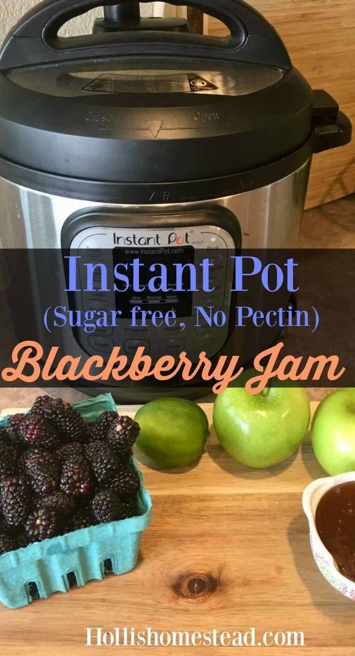 Instant Pot Blackberry Jam (No Sugar, No Pectin)