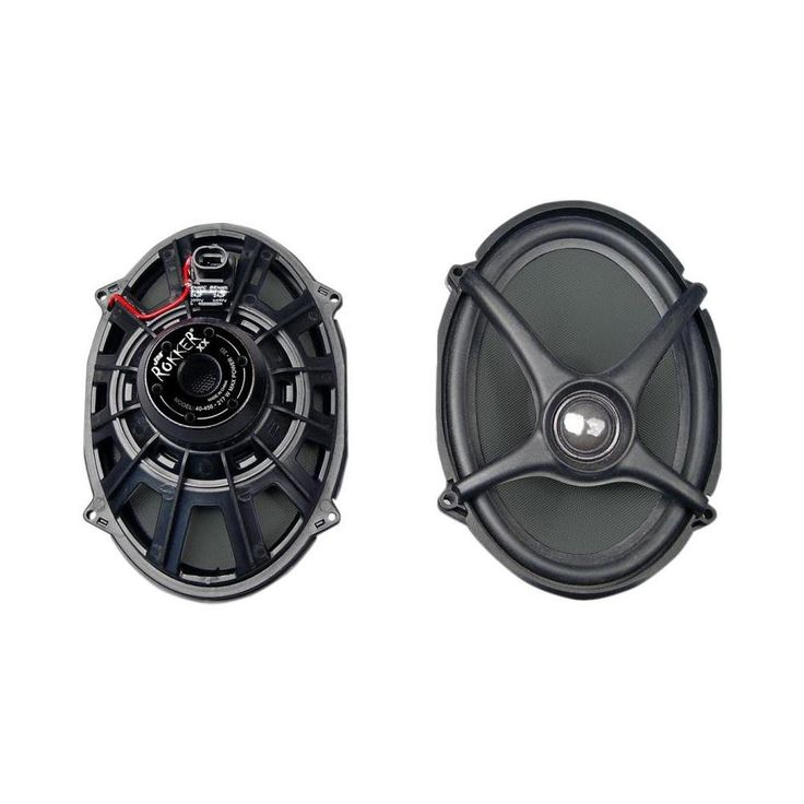 """J&M Audio Rokker XX 5x7"""" Replacement Speaker kit for 2006-2013 Harley-Davidson Boom Saddlebag Lids - HSDR-5x7R. Lightweight waterproof one-piece woven-fiber driver cone. Super high-density light-weight Neodymium magnet structure, specially coated to maintain flux-strength integrity even at extreme operating temperatures. High-efficiency vented voice-coil and magnet structure for improved cooling when operating at high volume levels for extended periods. Easy plug-n-play installation in…"""