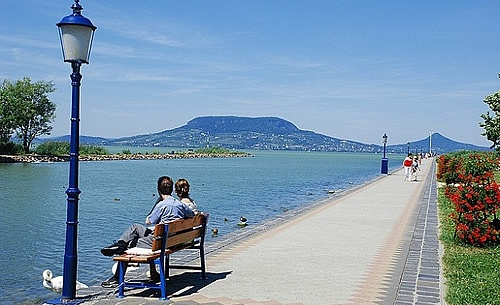 View from Folyód to Lake Balaton and the Badacsony Hill #Hungary
