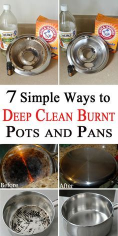 It is hard to clean a burnt pot, but not impossible. Here are 7 ways of making your pots and pans look as new. Everyone should know these simple tips!