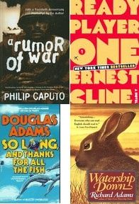 May Reads Recap - http://www.lesliebeslie.com/2013/06/10/month-reads-recap-watership-down-rumor-of-war-ready-player-one-is-the-worst/ - Watership Down, Rumor of War, Ready Player One is the worst