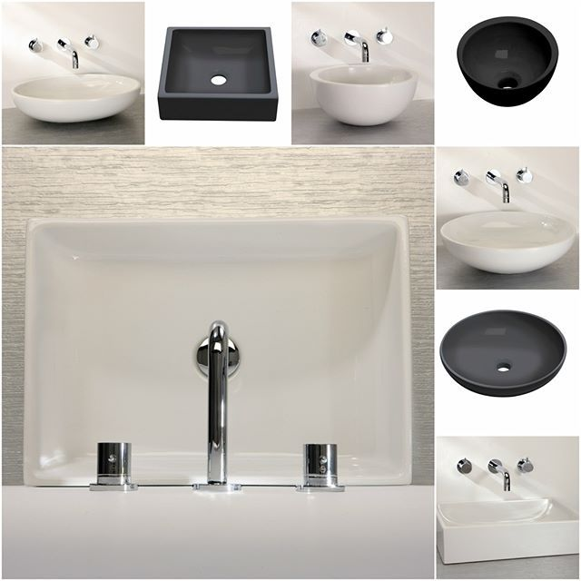 We have a large selection of black and white ceramic basins available.    See the full range at: https://www.finwooddesigns.co.uk/   #basin #sink #bathroom #ceramic #black #white #countertop #undermounted #overflow #taphole