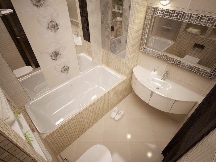 дизайн маленькой ванной, интерьер маленькой ванной, маленькая ванная, интерьере…