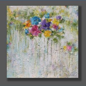 Drip Painting, Large Painting, Oil Painting Abstract, Grand Art, Modern Art Paintings, Abstract Flowers, Flower Art, Canvas Art, Stretched Canvas