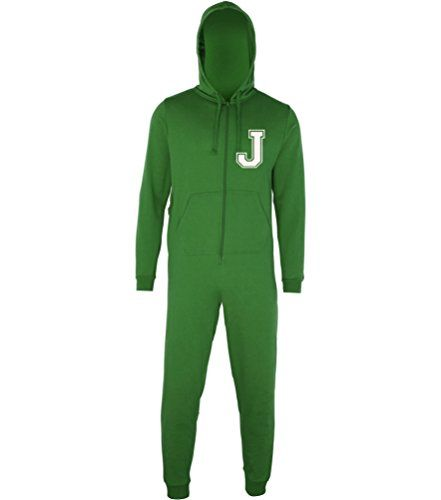 PERSONALISED ONESIE WITH NAME AND INITIAL' Kelly Green Onesie