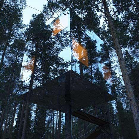 Tree Hotel by Tham: Sweden, Trees Trunks, Trees Hotels, Videgård Architect, Treehouse, Trees House, Treehotel, Architecture, Glasses House