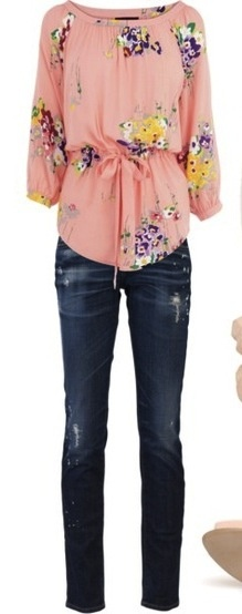 Pink Group Outfit:  Wear a Casual Shirt and Jeans!