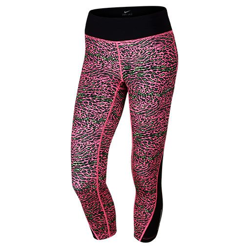 Women's Nike Racer Leopard Printed Crop Training Tights - 729292 667 |  Finish Line