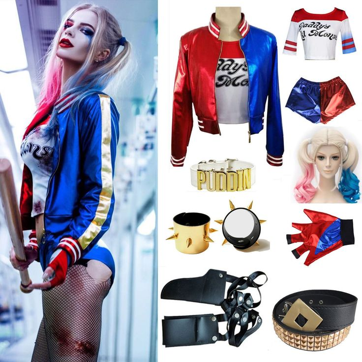 Adult Cosplay Harley Quinn Damen Kostüm Set Halloween Suicide Squad Outfit Party | eBay – Werbung #Cosplay #Kostüm #Halloween #Fasching #