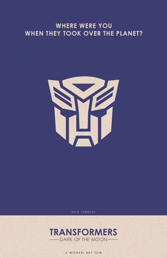 Transformers: Dark of the Moon posterMovie Posters, Minimal Posters ...