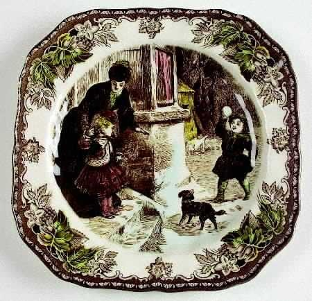 Johnson Brothers Friendly Village Christmas plates.