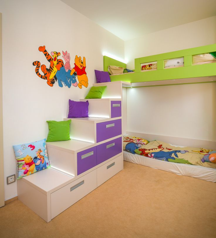 Dětská palanda se schůdky a úložným prostorem
