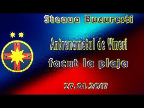 Steaua Bucuresti : Antrenamentul de vineri facut la plaja ( 27.01.2017 )
